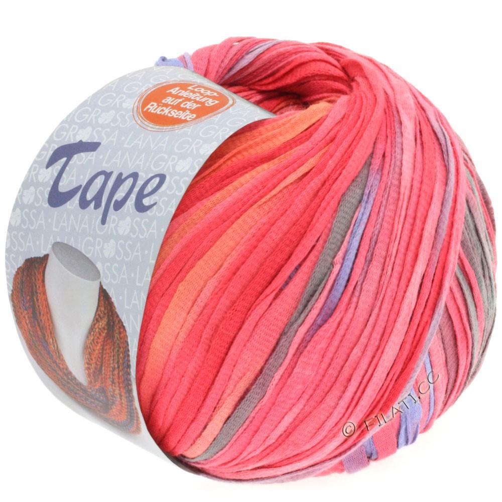 Lana Grossa TAPE (McWool) | 106-grågrøn/pink/orangegul