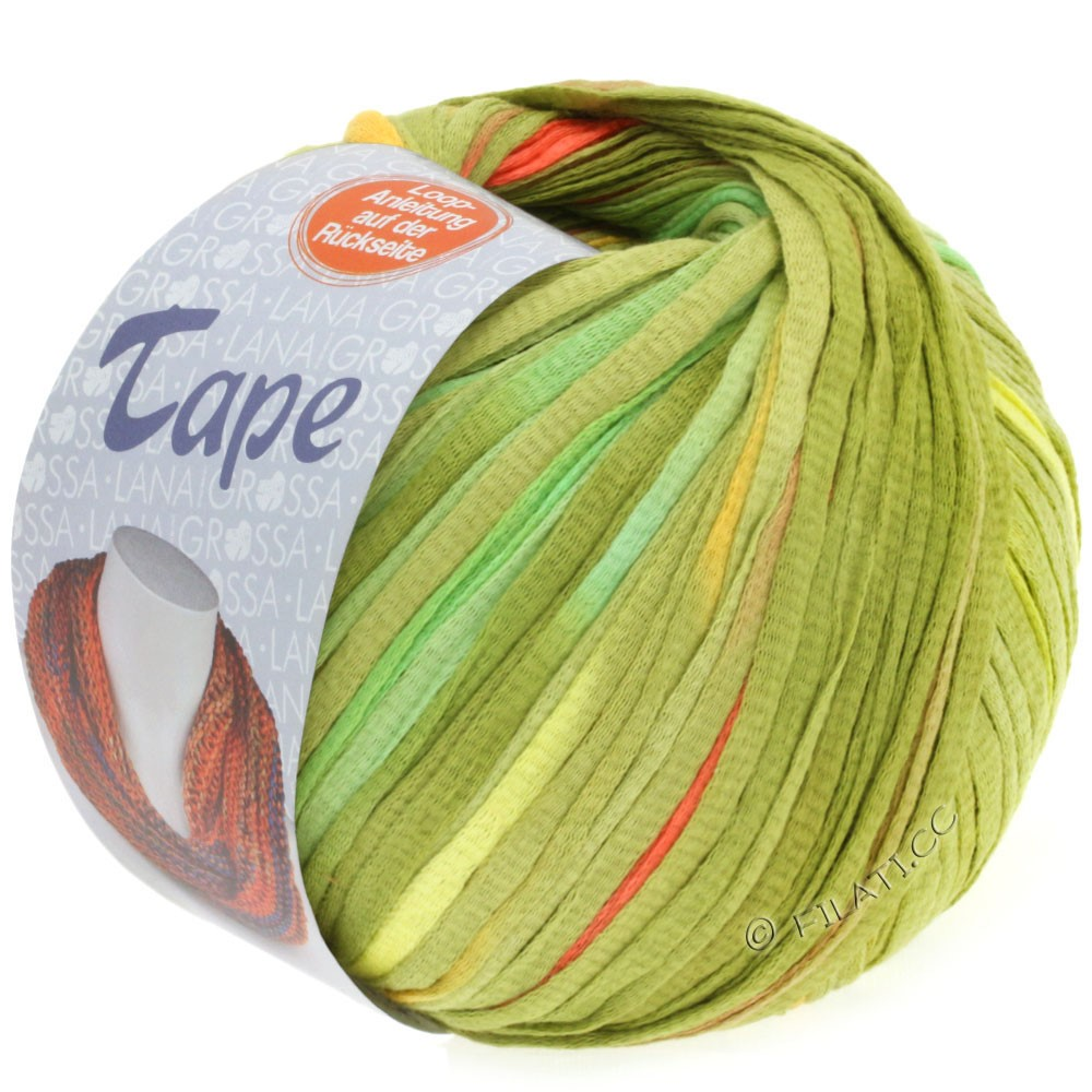 Lana Grossa TAPE (McWool) | 107-vanilje/lysegrøn
