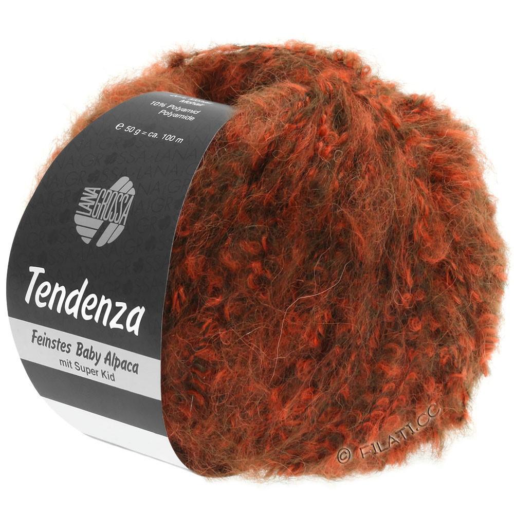 Lana Grossa TENDENZA | 006-mørkebrun/orange