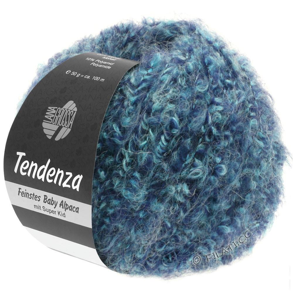 Lana Grossa TENDENZA | 009-blå purpur/mynte