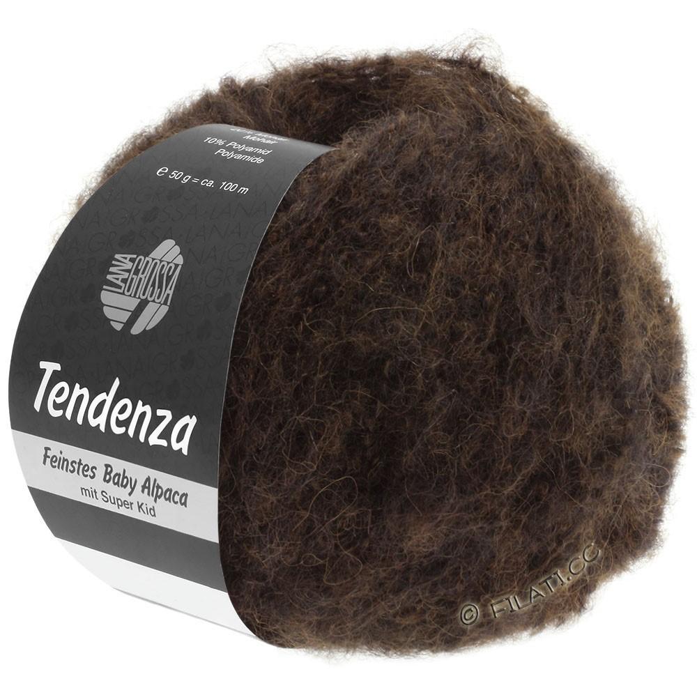 Lana Grossa TENDENZA | 012-mørkebrun/sort