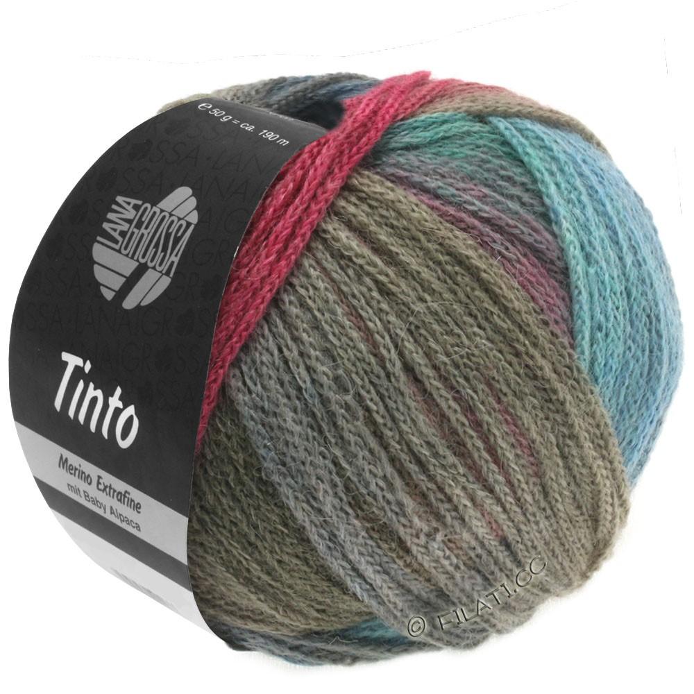 Lana Grossa TINTO | 01-turkis/bær/grå/kaki/blå