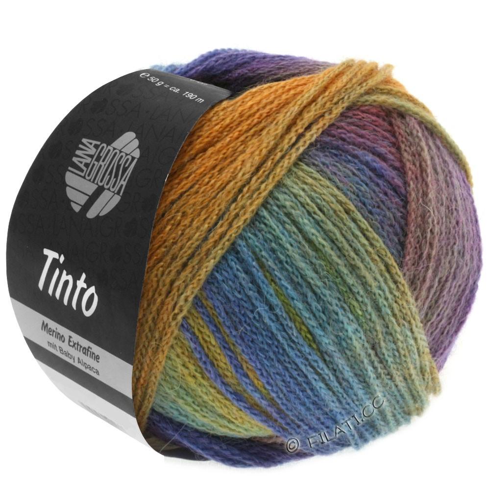Lana Grossa TINTO | 02-sennepgul/turkis/blå violet/rødviolet/resedagrøn/blå