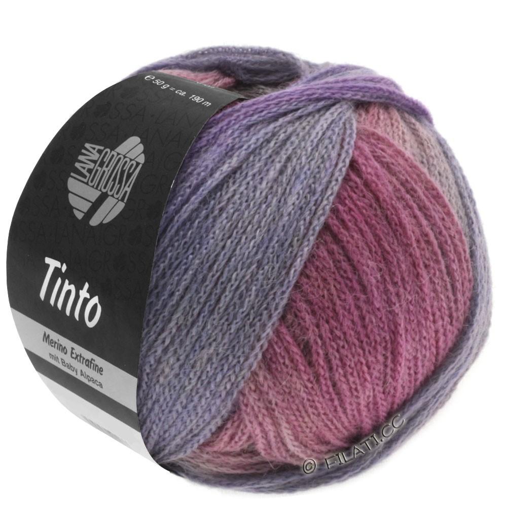 Lana Grossa TINTO | 04-rødviolet/rosa/mudder/hindbær/lysegrå