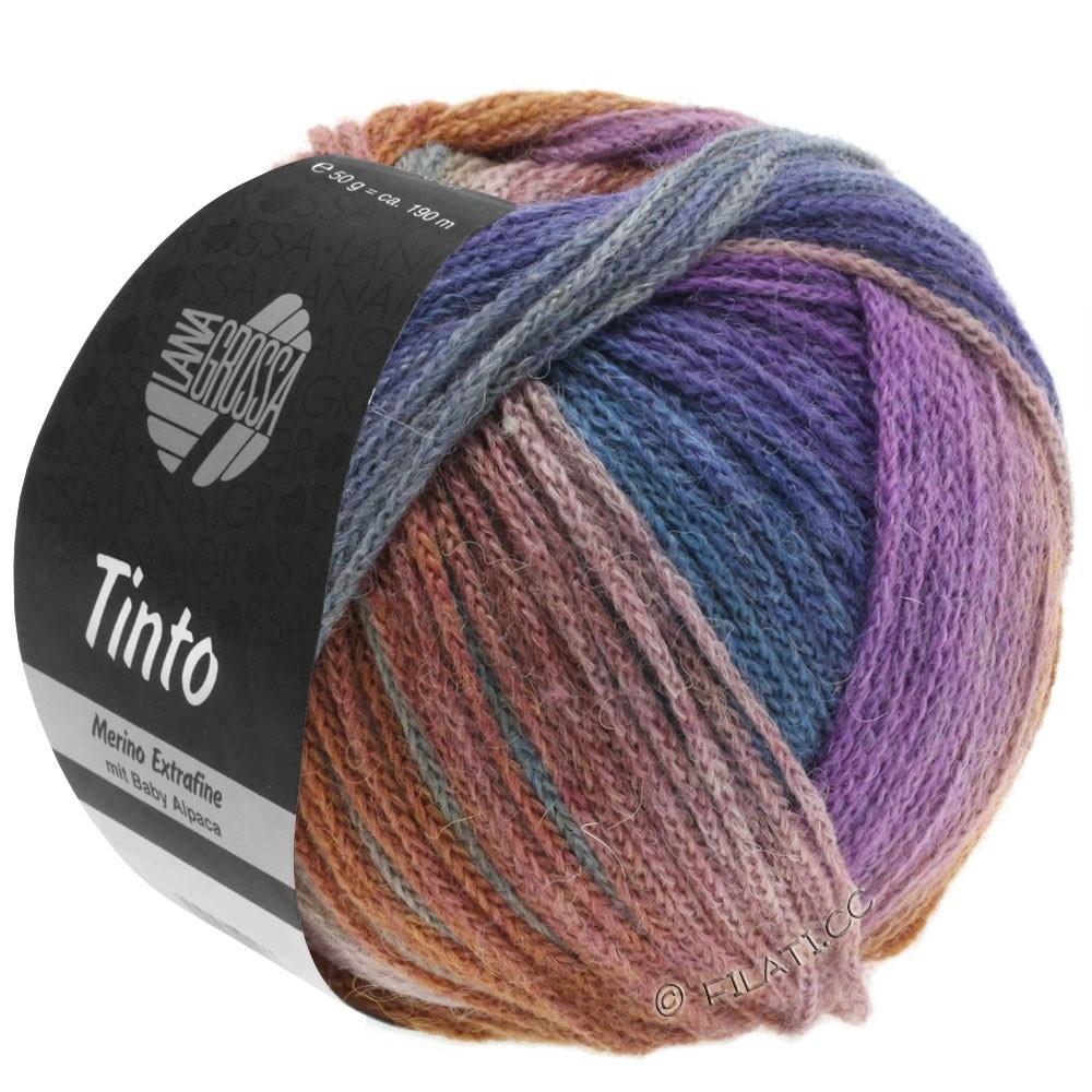 Lana Grossa TINTO | 09-lysegrå/resedagrøn/purpur/brun/petrol blå