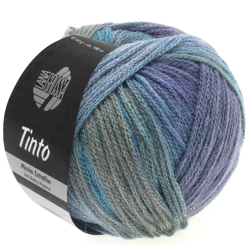 Lana Grossa TINTO | 10-lyseblå/lysegrå/blå/purpur/rødbrun/mynte
