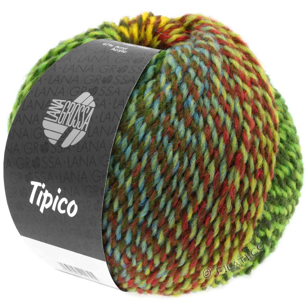 Lana Grossa TIPICO | 01-lysegrøn/mørkegrøn/brun/gul