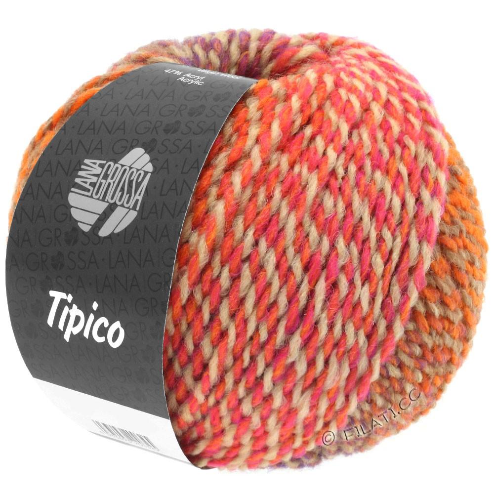 Lana Grossa TIPICO | 03-orange/kamel/rosa/tomatrød