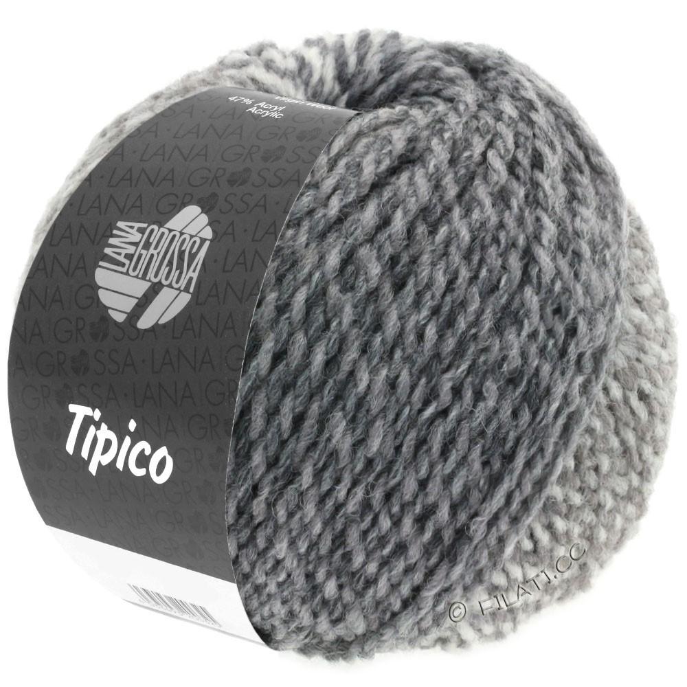Lana Grossa TIPICO   05-hvid/lysegrå/mørkegrå