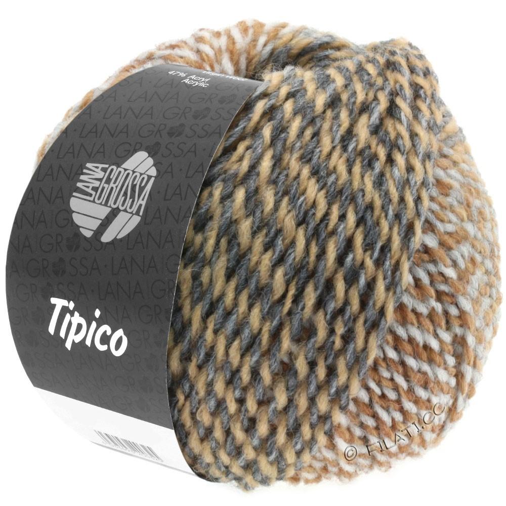 Lana Grossa TIPICO | 06-lysegrå/mørkegrå/kamel