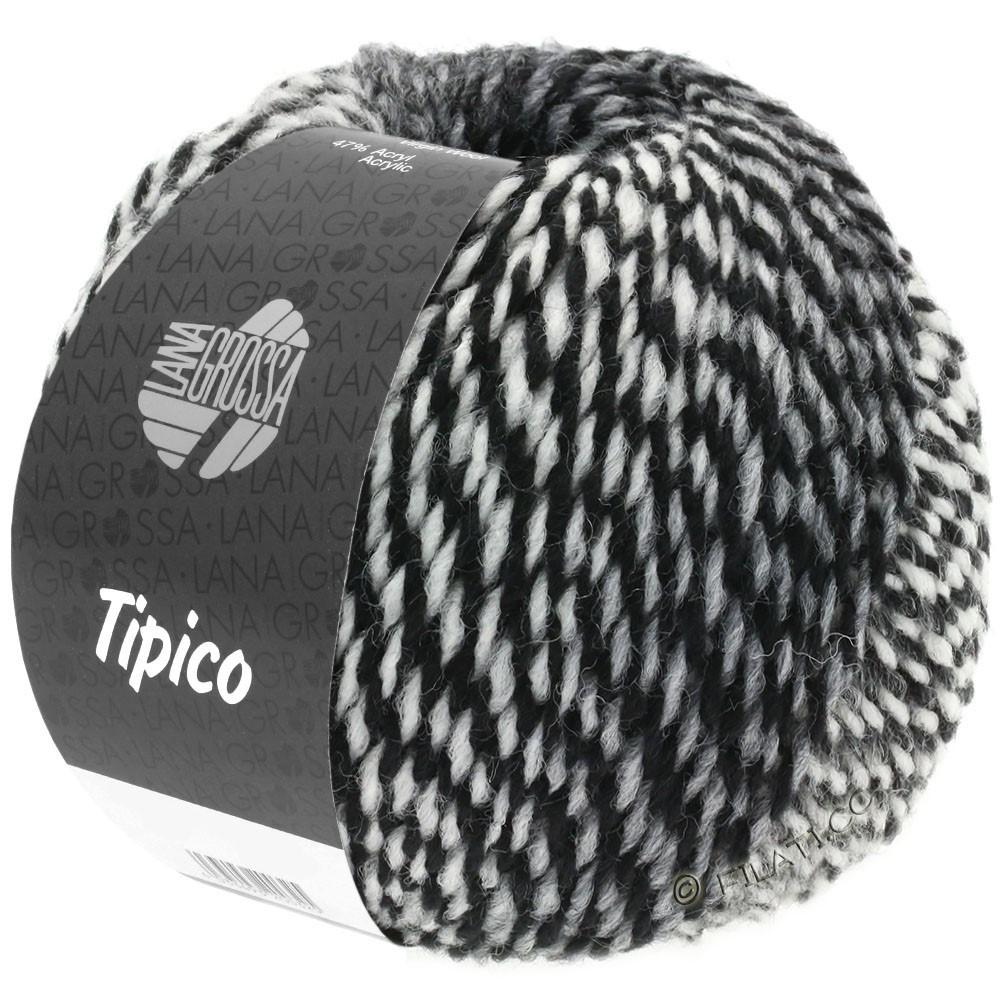 Lana Grossa TIPICO | 07-hvid/grå/sort