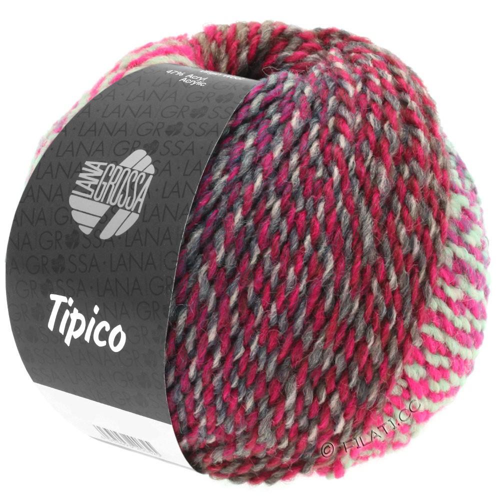Lana Grossa TIPICO | 09-lysegrå/mørkegrå/pink