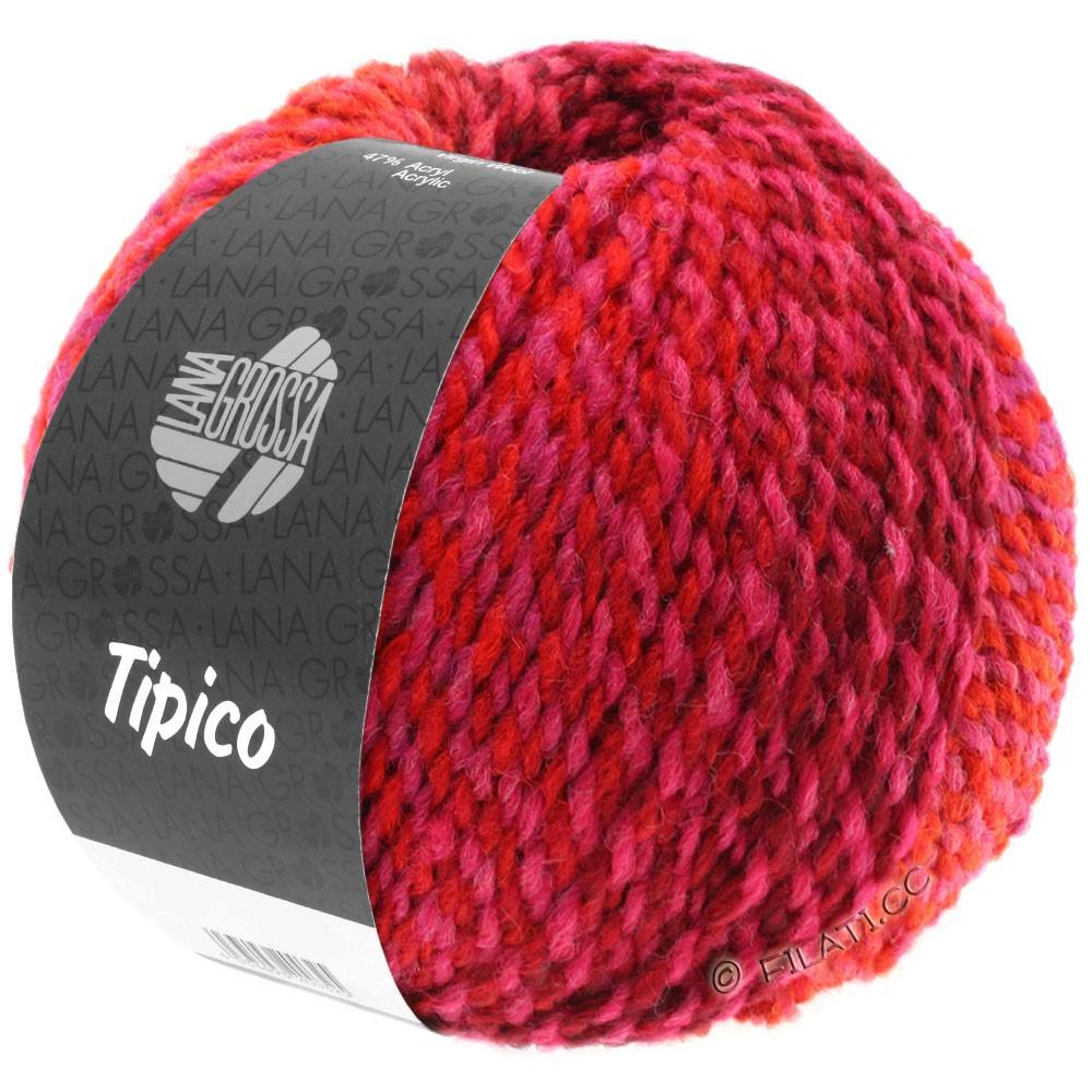Lana Grossa TIPICO | 10-røde roser/vinrød