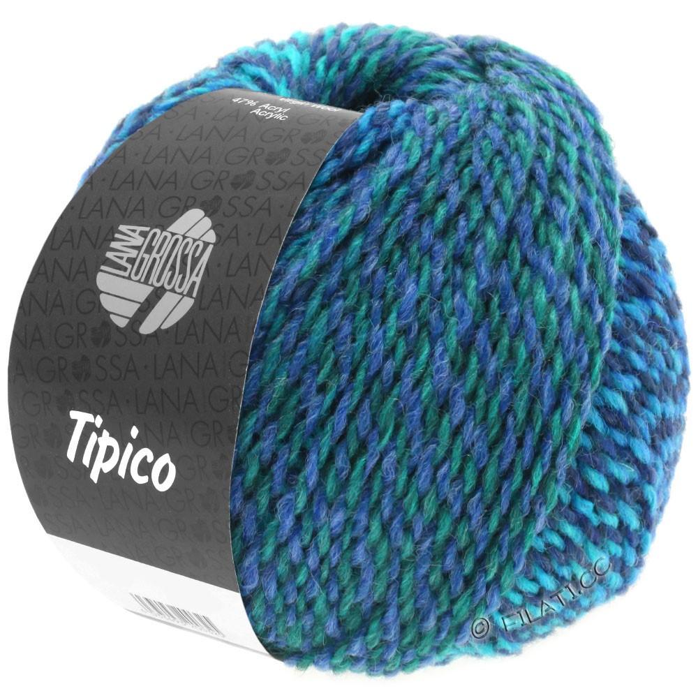Lana Grossa TIPICO | 11-mørkeblå/turkis/petrol