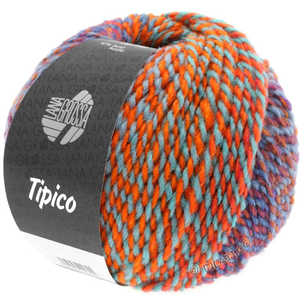 Lana Grossa TIPICO | 12-blå/ruste/turkis/orange