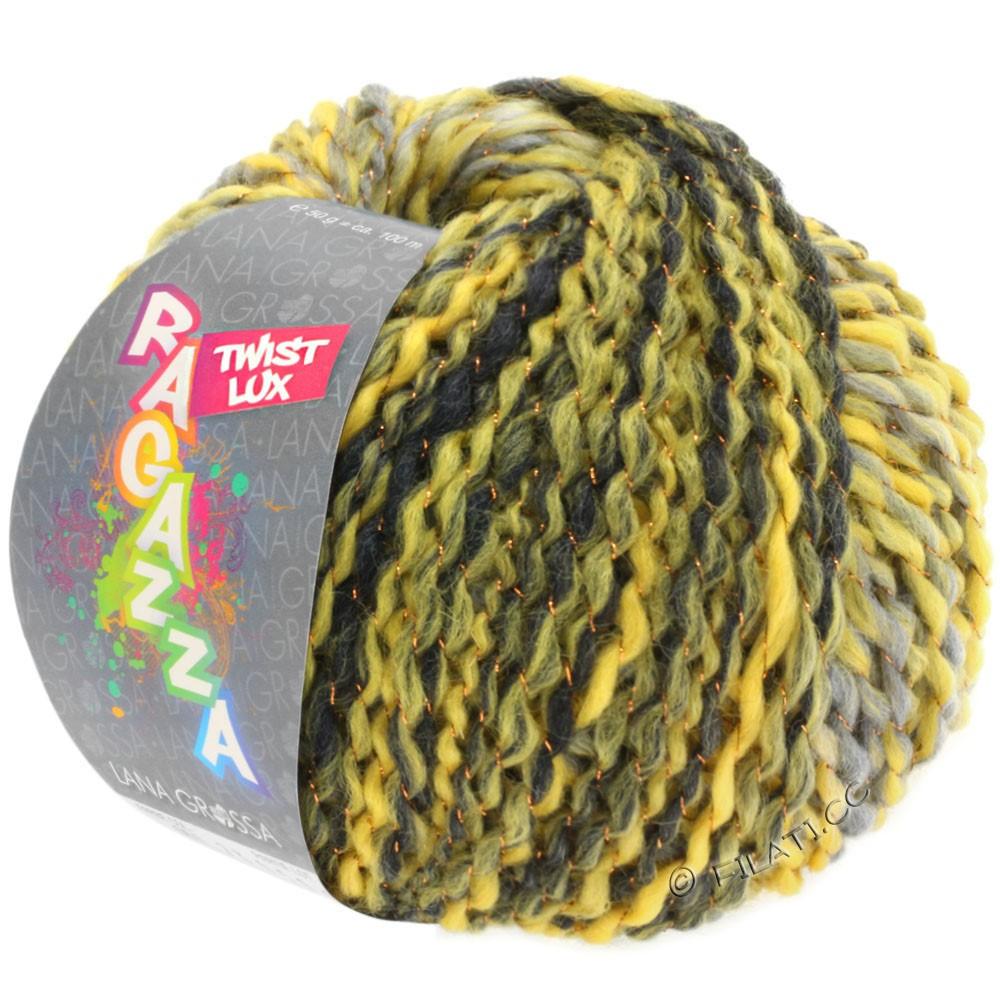 Lana Grossa TWIST Lux (Ragazza) | 105-gul/lysegrå/mørkegrå/kobber