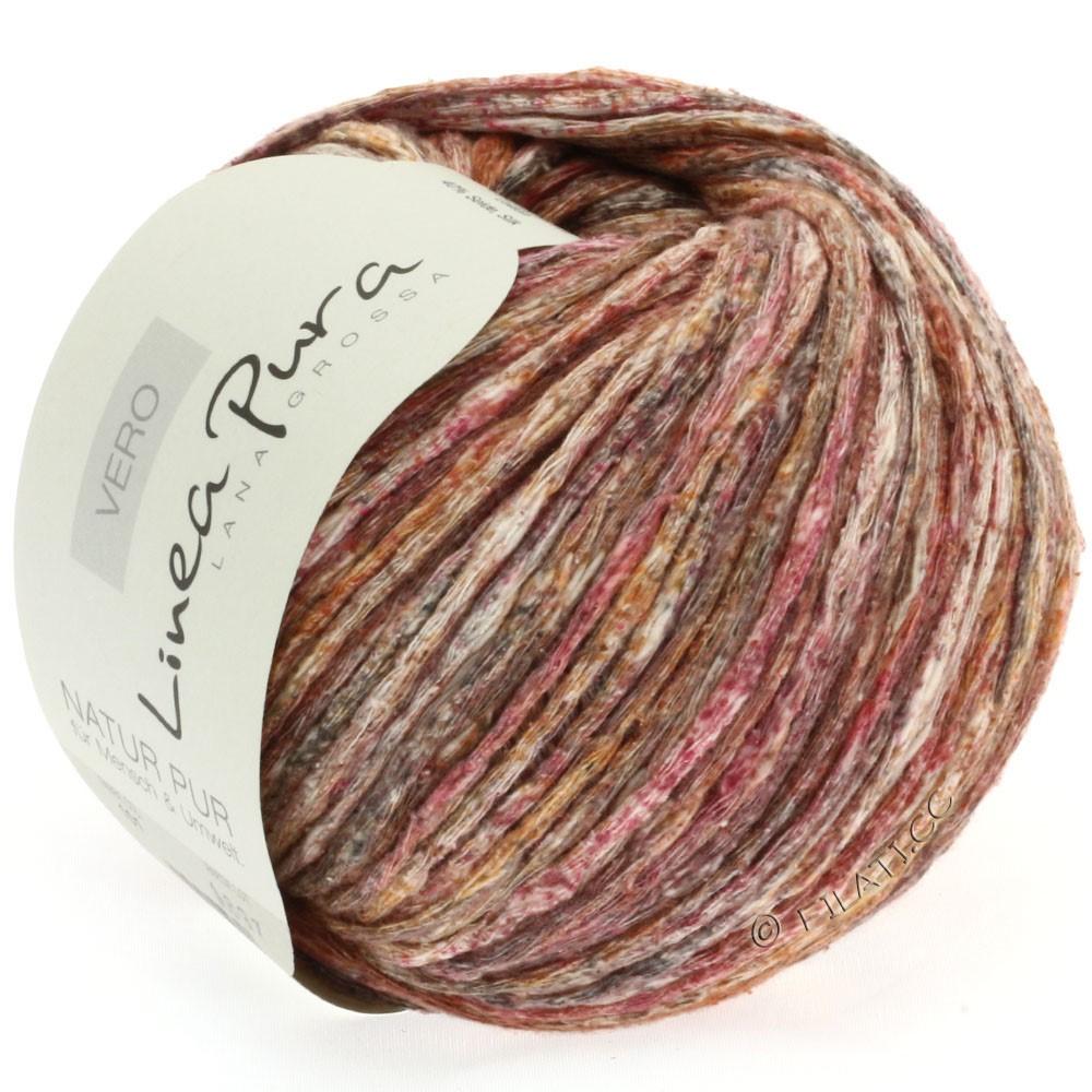 Lana Grossa VERO uni/print (Linea Pura) | 101-rødbrun/gråbrun/natur