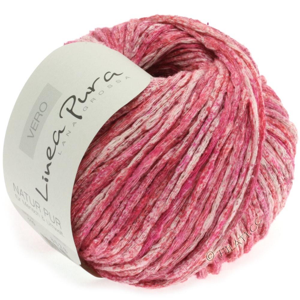 Lana Grossa VERO uni/print (Linea Pura) | 110-rød/pink/natur