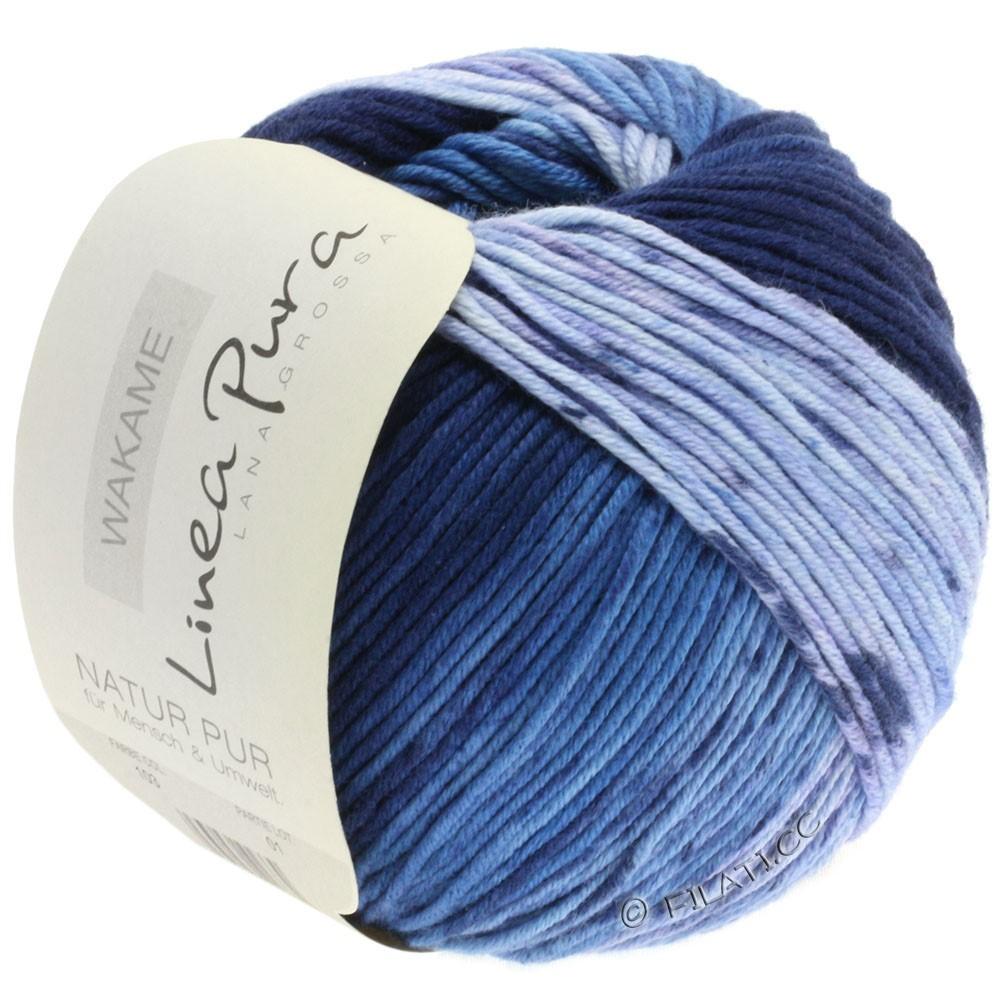 Lana Grossa WAKAME Uni/Print (Linea Pura) | 103-lys blå/jeans/marine