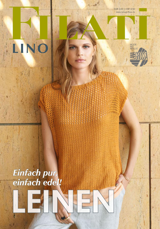 Lana Grossa FILATI Lino Udgave 1 - Magasin (DE) + Strikkeopskrifter (DK)