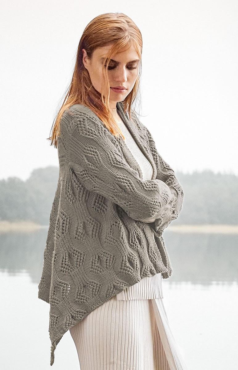 Lana Grossa JAKKE MED SNIPPER Cool Wool Cashmere