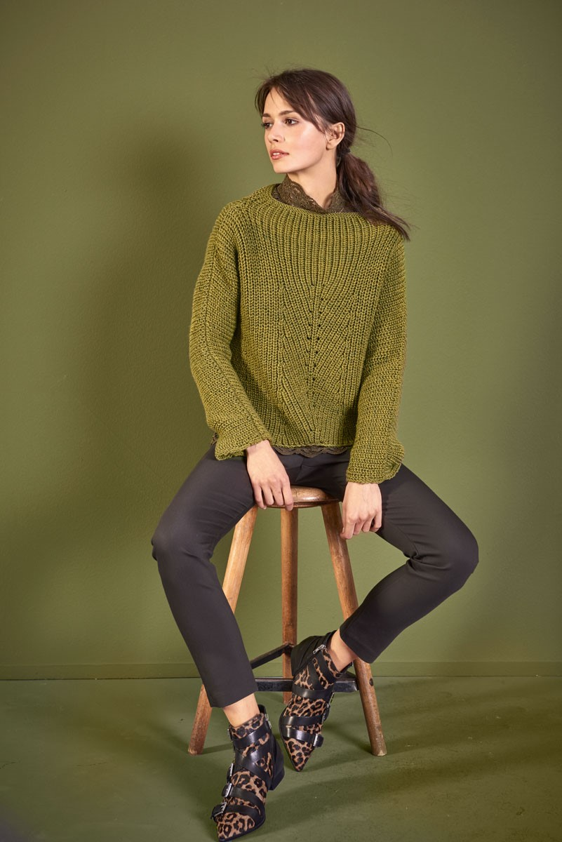 Lana Grossa PULLOVER Cool Wool Big Melange