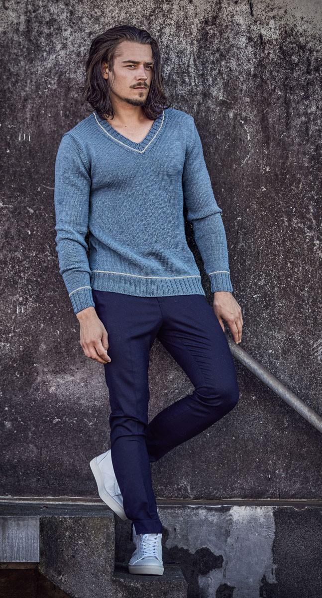 Lana Grossa PULLOVER Cool Wool uni/melange