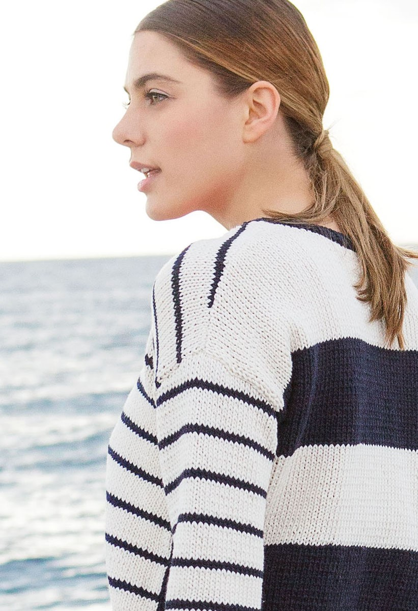 Lana Grossa SWEATER MED STRIBER Only Cotton