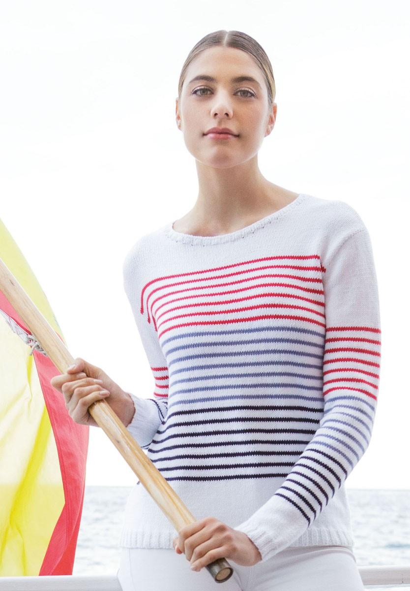 Lana Grossa SWEATER I GLAT OG STRIBER Summer Lace