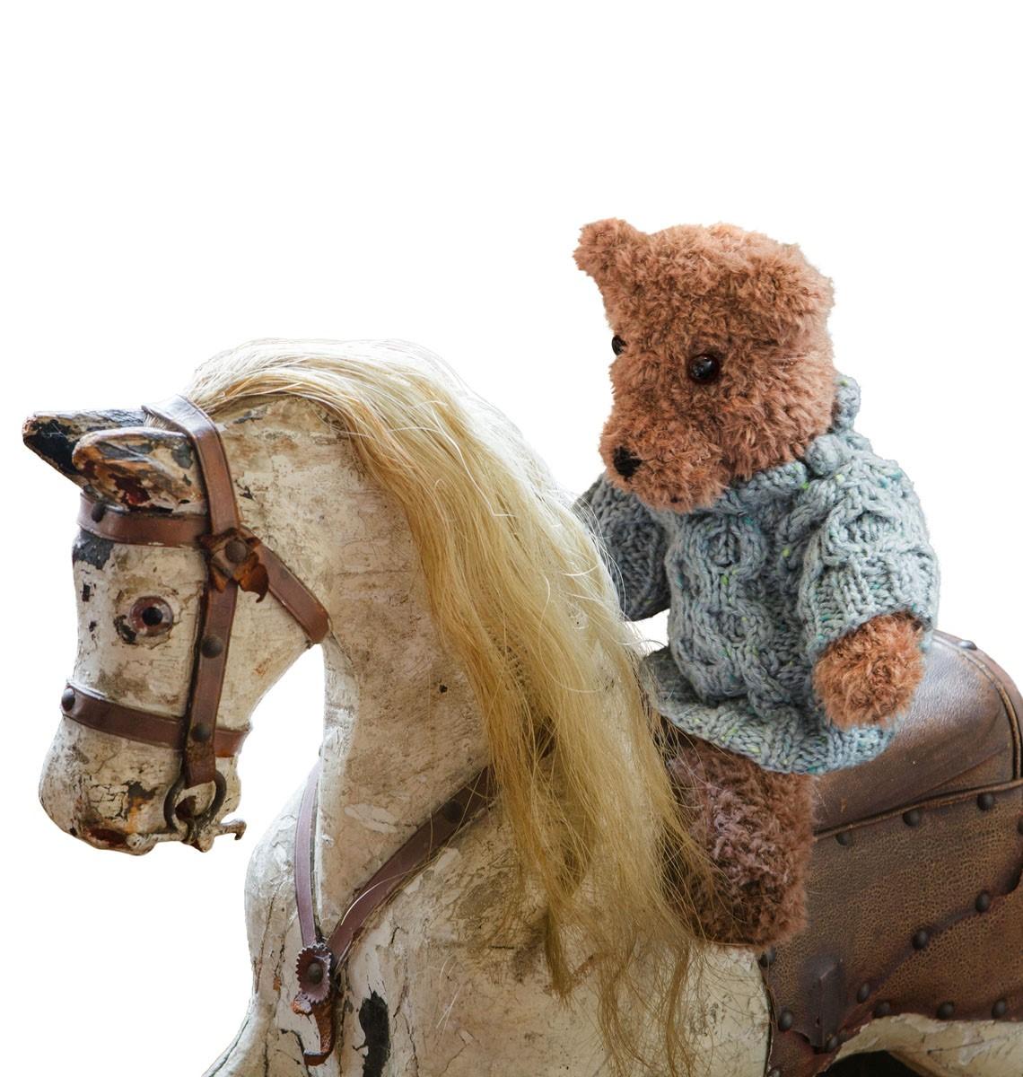 Lana Grossa TEDDY SNONINGSSWEATER Royal Tweed