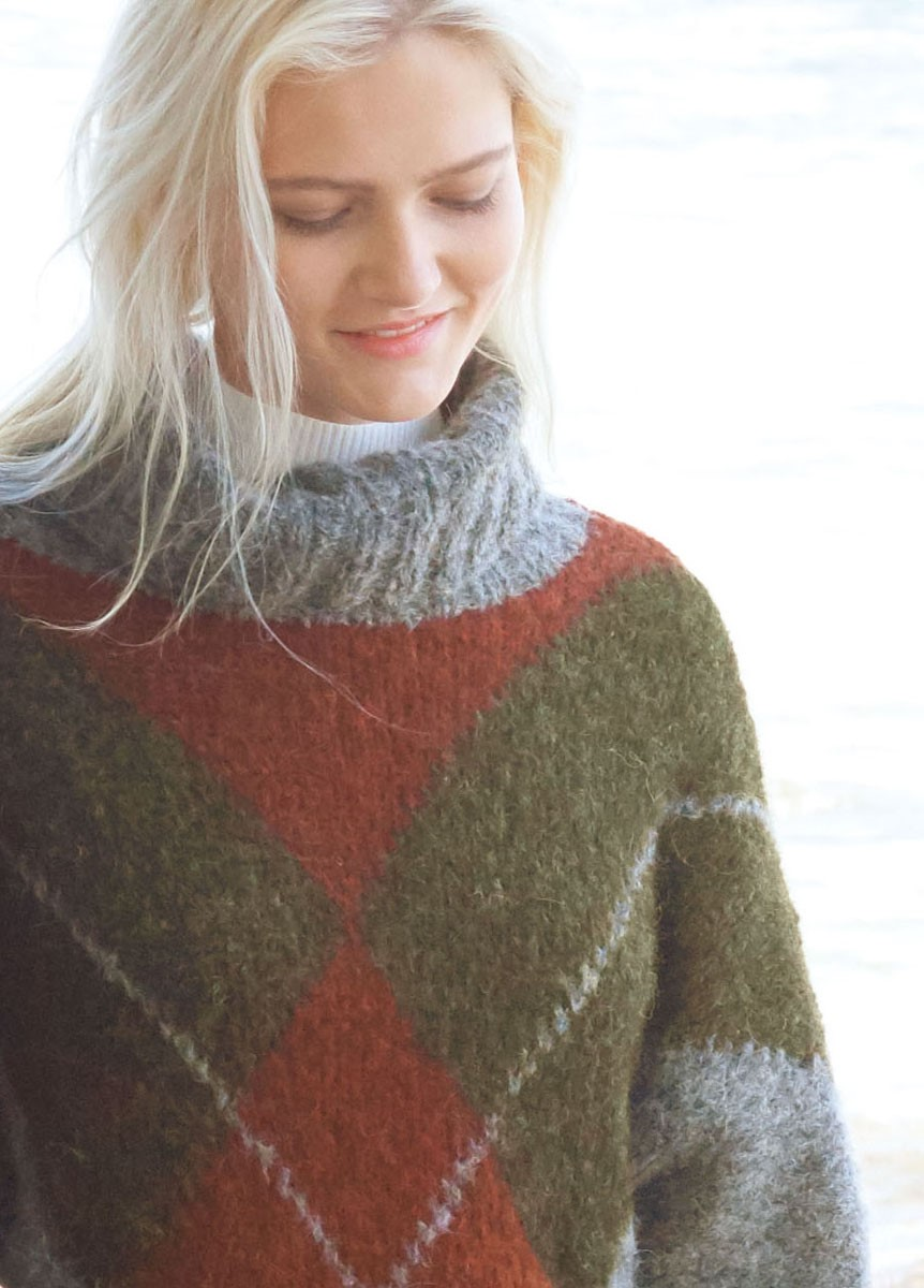 Lana Grossa SWEATER MED KIMONOÆRMER Garzato Fleece