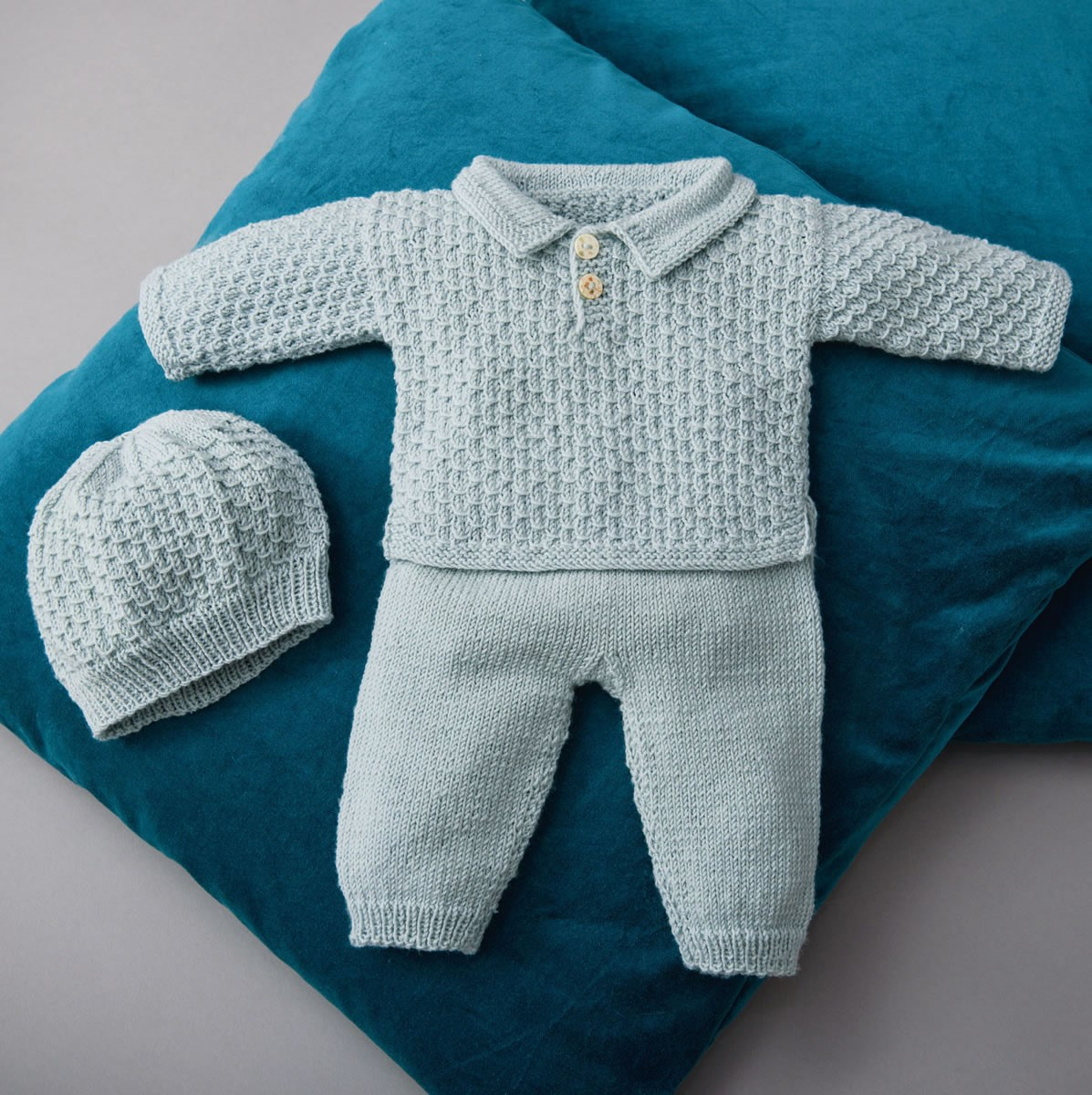 Lana Grossa SWEATER, BUKSER OG HUE Cool Wool Baby