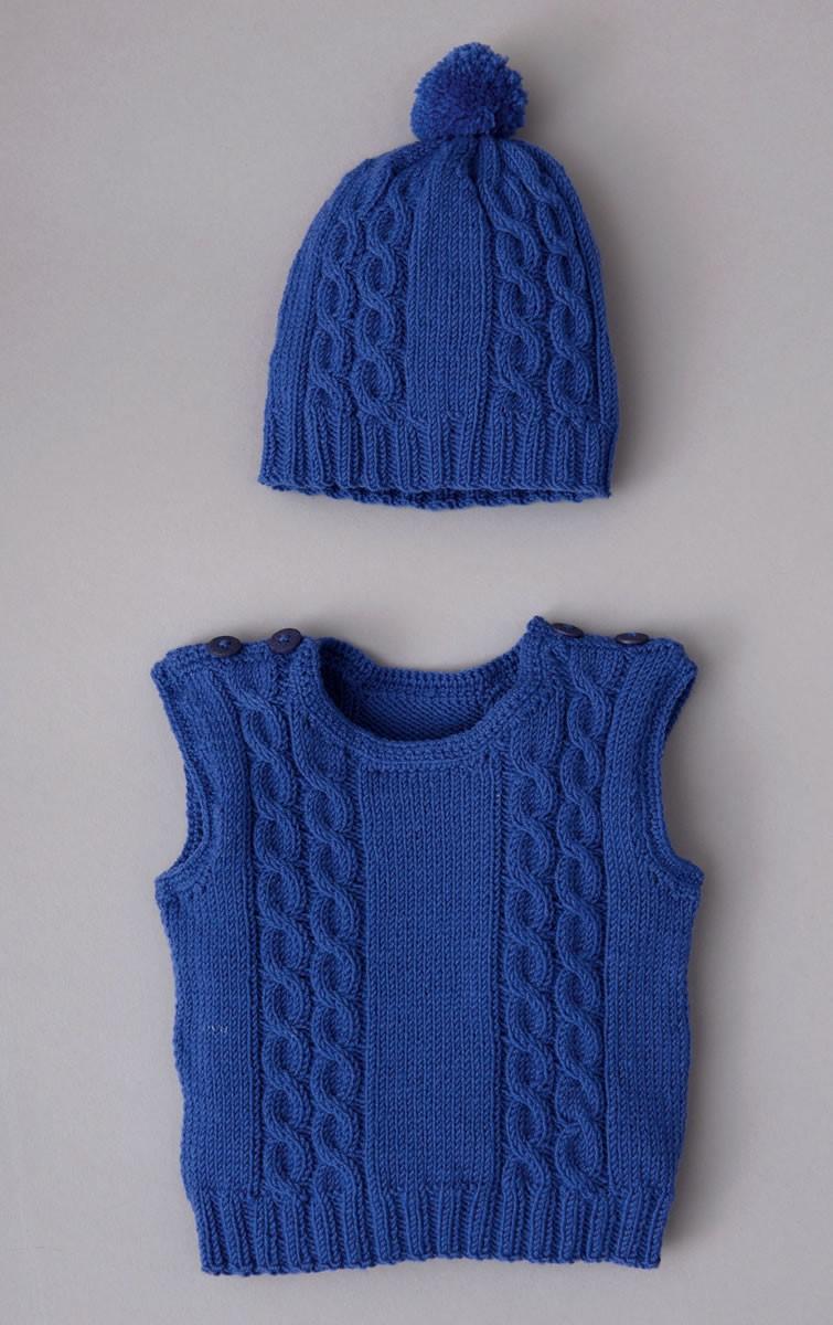 Lana Grossa SLIPOVER OG HUE Cool Wool Baby