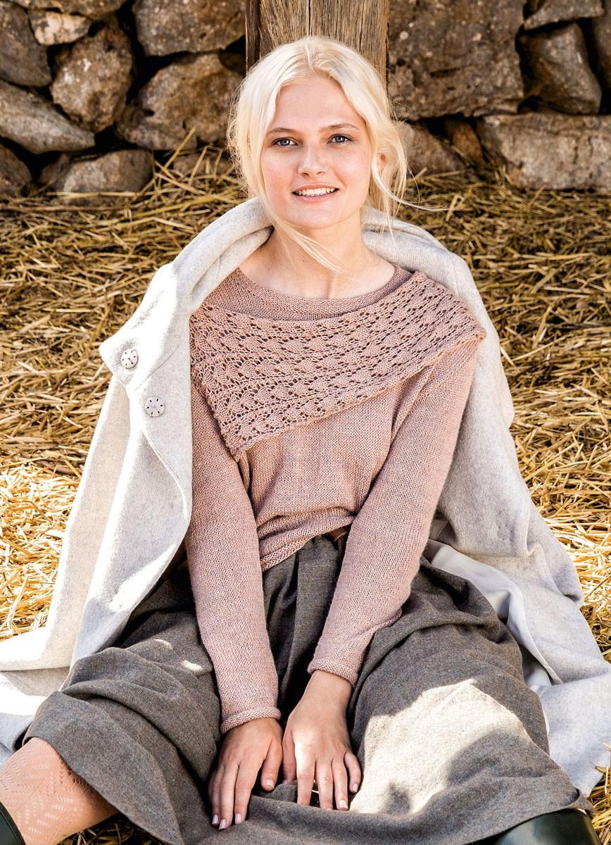 Lana Grossa SWEATER MED PÅSYET TØRKLÆDE Alpaca Peru 200