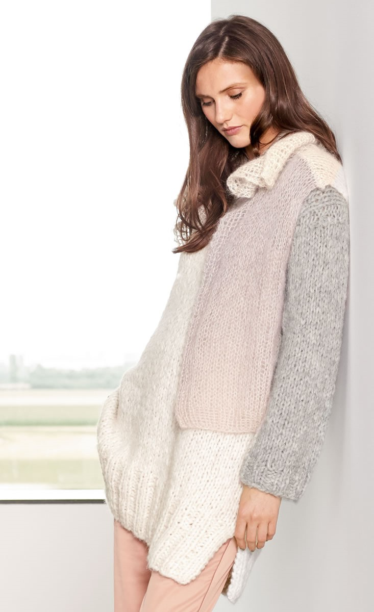 Lana Grossa SWEATER Cloud/Silkhair Degradé