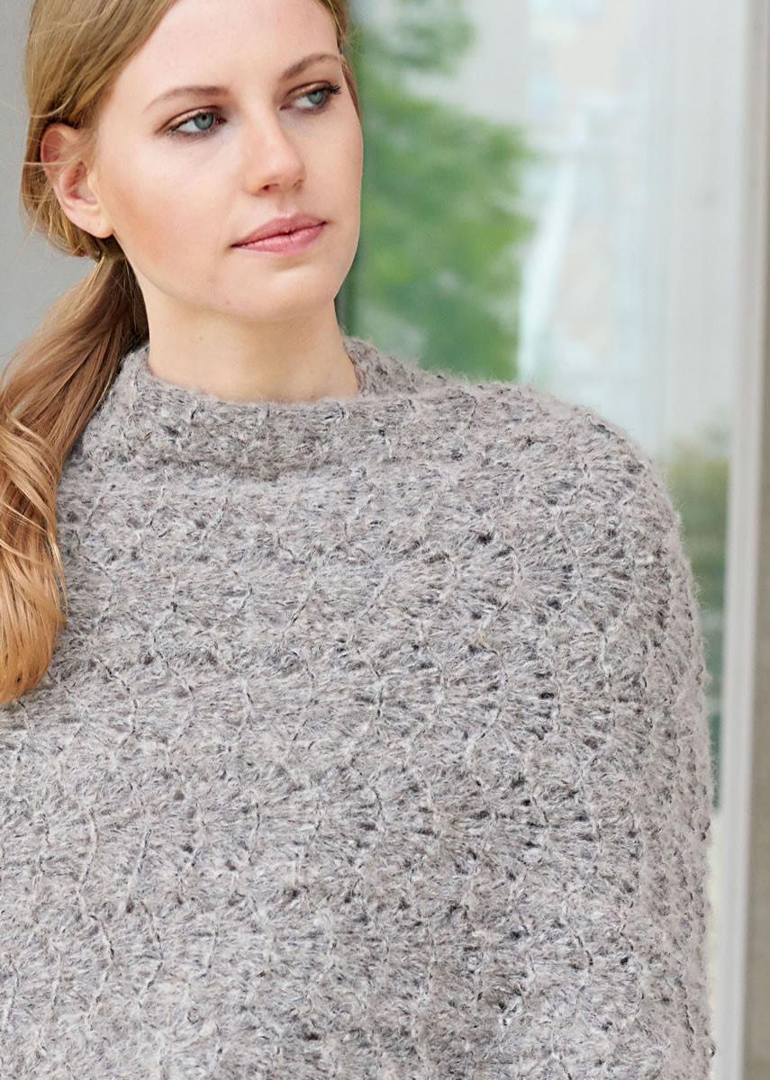 Lana Grossa PONCHO Garzato Fleece