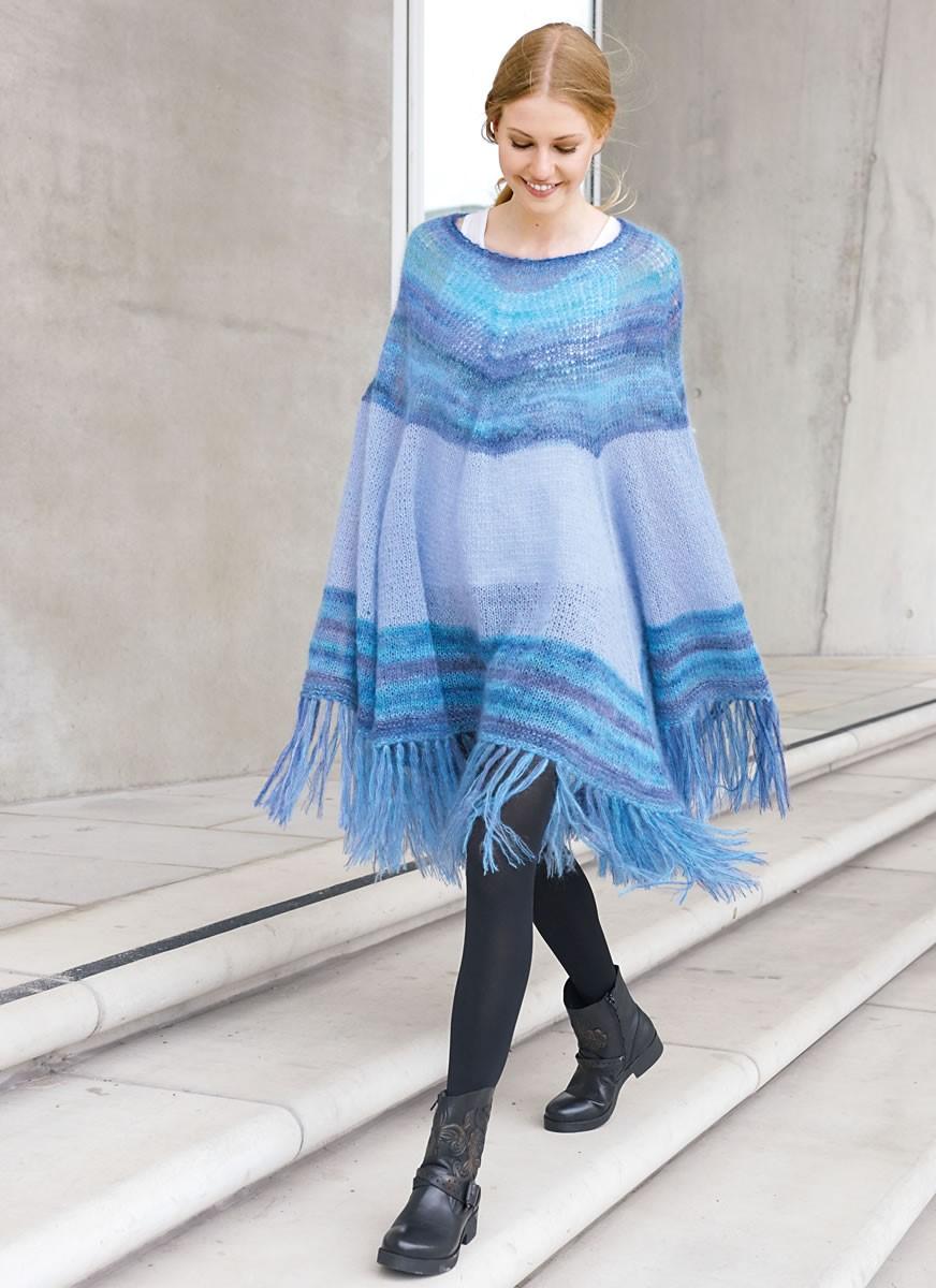 Lana Grossa STOR PONCHO I ETNO-LOOK Silkhair/Silkhair Print