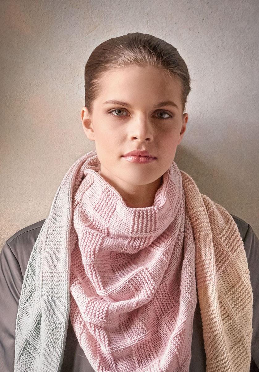 Lana Grossa Trekantet tørklæde Shades of Merino Cotton