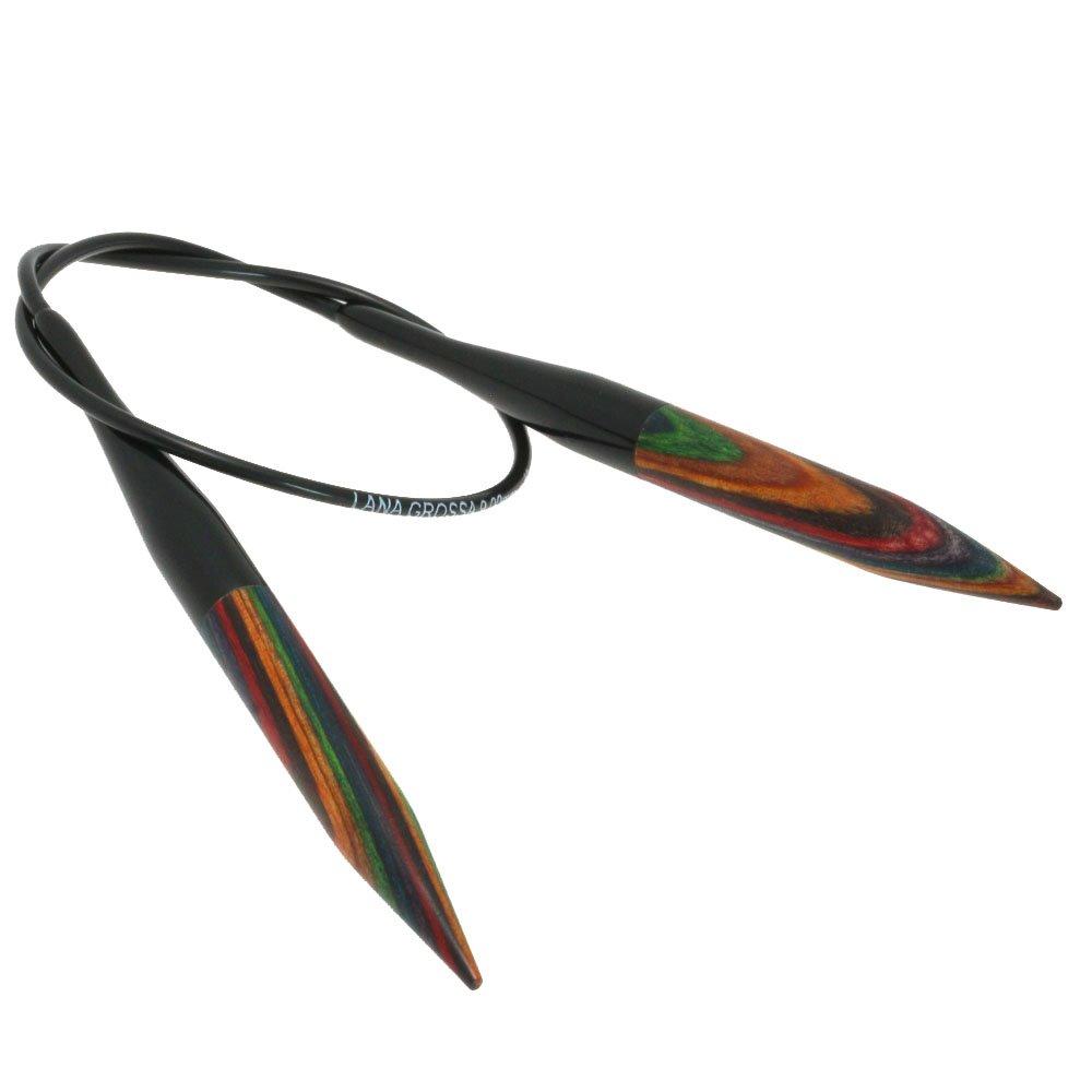 Lana Grossa Rundpind Design Træ Color Str. 9,0/ 40cm